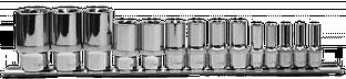 "Набор головок торцевых глубоких 1/4"", 3/8"", 1/2""DR на держателе, внешний TORX®, E4-E24, 14 предметов 910714"