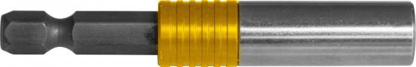 """Держатель для вставок-бит 1/4""""HDR магнитный с дополнительной фиксацией, 67 мм 200314"""