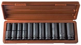 """Набор головок торцевых глубоких для ударного инструмента 1/2""""DR, 10-24 мм, 11 предметов 912511"""