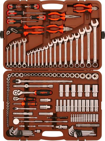 """Набор инструмента универсальный 1/4"""", 3/8"""" и 1/2""""DR, 141 предмет OMT141S"""
