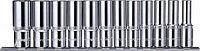 """Набор головок торцевых глубоких 1/2""""DR на держателе, 10-24 мм, 12 предметов 912112"""