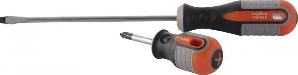 751075 Отвертка стержневая крестовая ROUND GRIP, PH0x75 мм