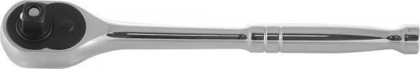 """281401 Рукоятка трещоточная 1/4""""DR, металлическая ручка, 72 зубца"""