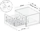Корзина-сушка для посуды, корзина для шкафа купе KRS04/1/1/800, фото 2