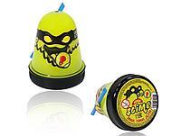 Жвачка для рук Ninja Slime с трубочкой, 130 гр (жёлтый, светится в темноте)