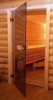 Стеклянные двери для сауны и бани в алматы С узорами