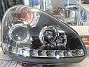 Фары передние линза + диодная полоса Лада Приора, фото 4