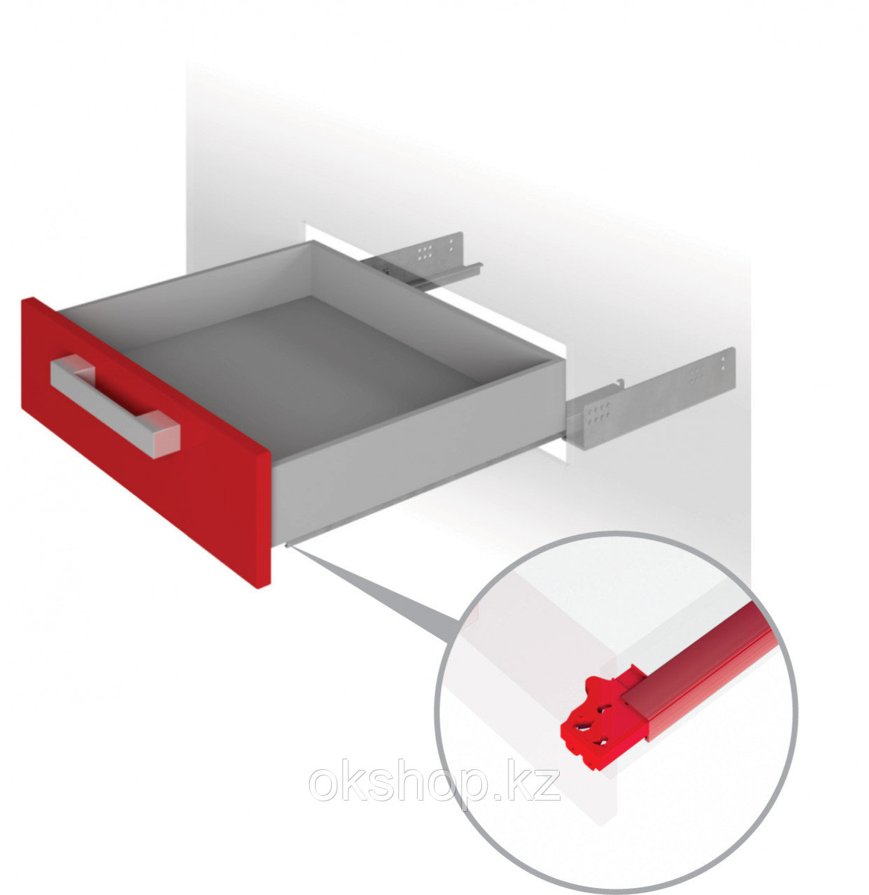 Направляющие механизмы скрытого монтажа DB4461Zn/500
