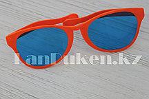 Большие карнавальные очки (с оранжевой оправой)