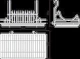 Навесная полка с поддоном для тарелок SRK501/CP, фото 2