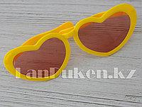 """Огромные карнавальные очки """"Сердечки"""" (с желтой оправой) оранжевый"""