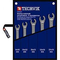 FNWS005 Набор ключей гаечных разрезных в сумке, 8-19 мм, 5 предметов, фото 1