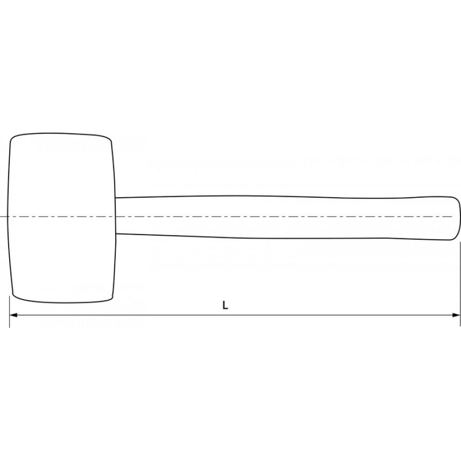 Киянка резиновая, 900 гр. WHRM90