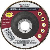 Диск шлифовальный лепестковый торцевой, 115х22.2 мм, Р40 AFD115P40