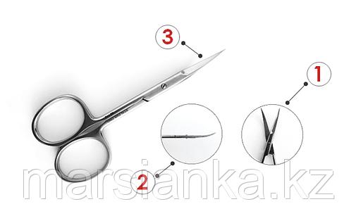 SE-11/2 Ножницы профессиональные для кутикулы (лезвия 21мм) для левшей, фото 2