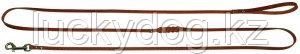 Поводок 8 кожаный длинный Наша ручная работа, 230см х 8мм