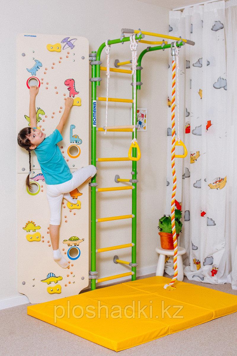 Шведская стенка ROMANA, канат, кольца гимнастические, трапеция, скалолаз