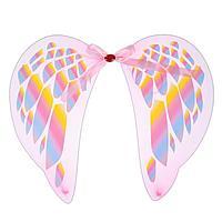 """Карнавальные крылья """"Ангел"""", с узорами, цвет розовый, фото 1"""