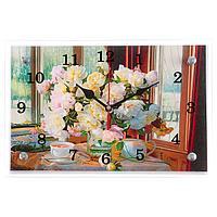 """Часы настенные """"Цветы в вазе"""", 20х30 см, фото 1"""