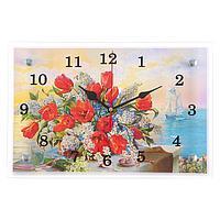 """Часы настенные """"Цветы в вазе"""", 20х30 см"""