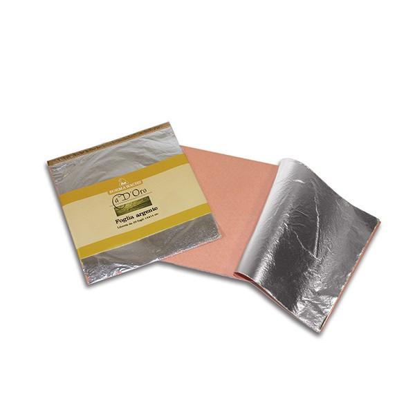 Поталь серебро 14х14см, 25 листов, толщина 0,001 мм CDO66A07