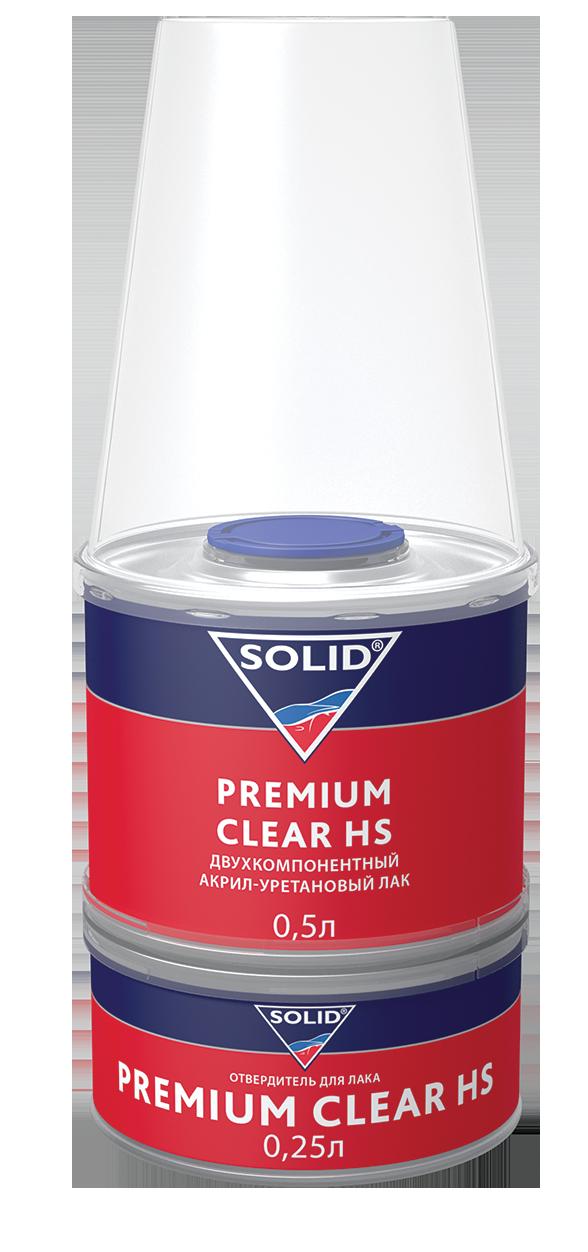 Лак автомобильный прозрачный Premium Clear HS 2:1 (750 мл)