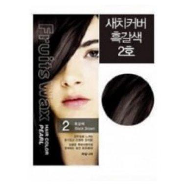 Welcos Краска для волос (черно-коричневый) Fruits Wax Hair Color 2 Black Brown / 120 мл.