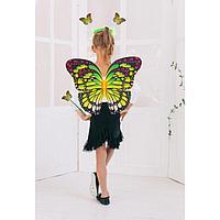 """Карнавальный набор """"Яркий мотылек"""" 3 предмета: крылья, жезл, ободок, фото 1"""