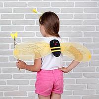 """Карнавальный набор """"Бабочки"""", 3 предмета: крылья, ободок, жезл, 3-5 лет"""