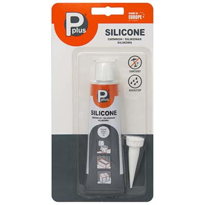 Герметик силиконовый белый 50 мл Pplus