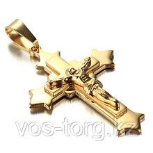 """Кулон-крестик  """"Крест позолота"""""""