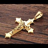 """Кулон-крестик  """"Крест позолота"""", фото 5"""