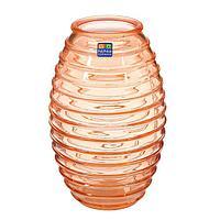 """Ваза """"Лайт"""" оранжевая, 14 см × 14 см × 19,5 см"""