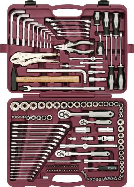 """Набор инструмента универсальный 1/4"""", 3/8"""" и 1/2""""DR, 142 предмета UTS0142"""