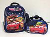 Школьный рюкзак в комплекте для мальчика, с 1-го по 3-й класс.Высота 38 см, длина 28 см, ширина 15 см.