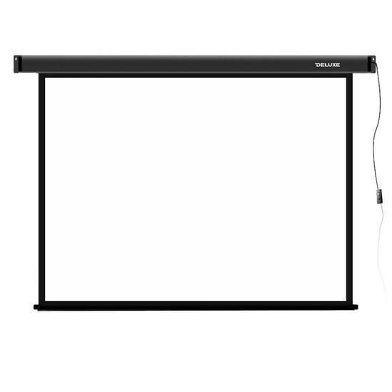 Экран для проекторов Deluxe DLS-E203х153 Моторизированный 203x153 Matt white Чёрный