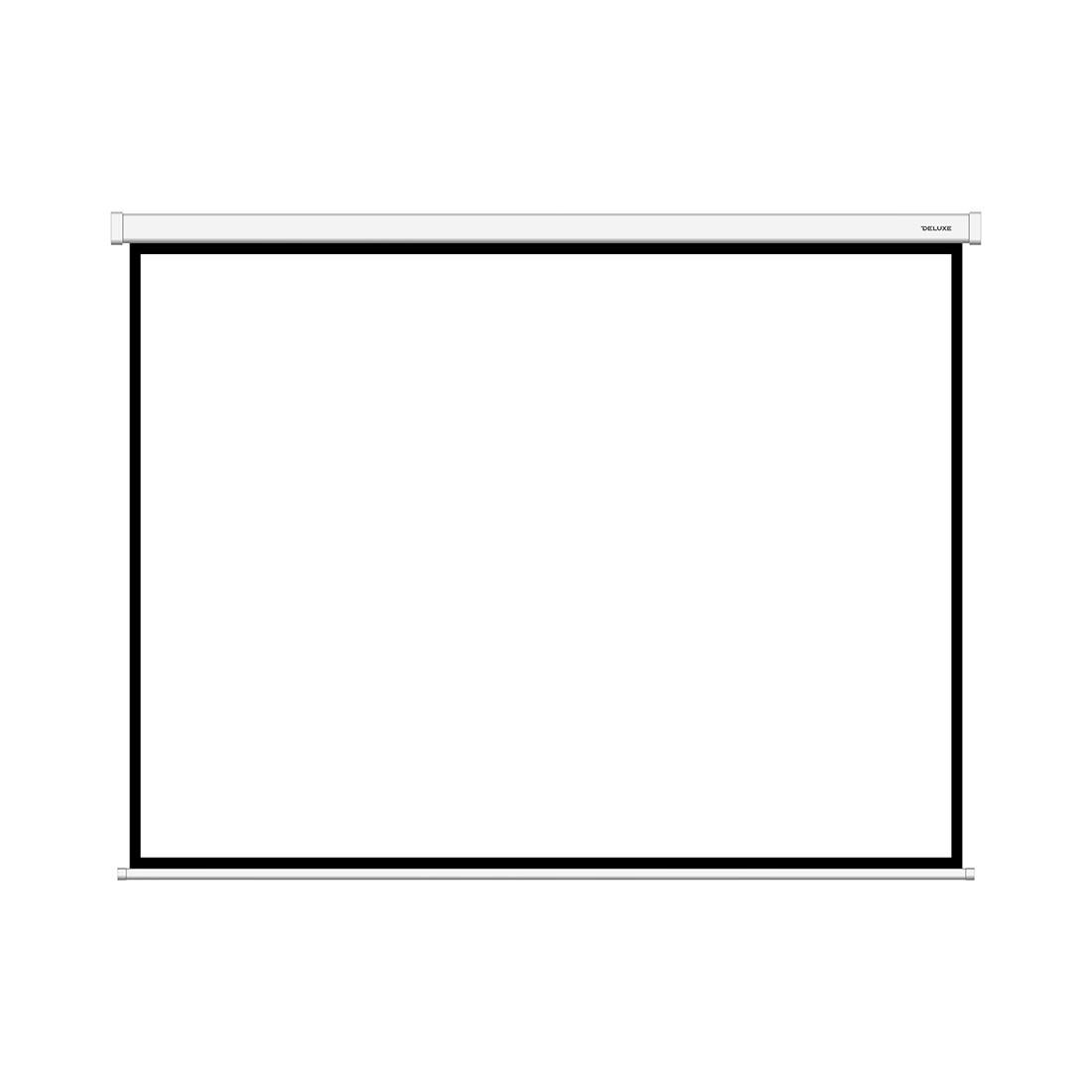 Экран для проекторов Deluxe DLS-M203x153W Настенный 203x153 Matt white Белый