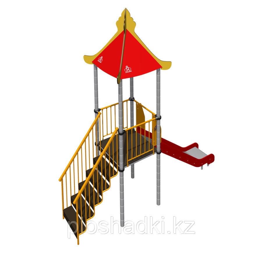 Игровой комплекс Romana крыша, лестница, горка