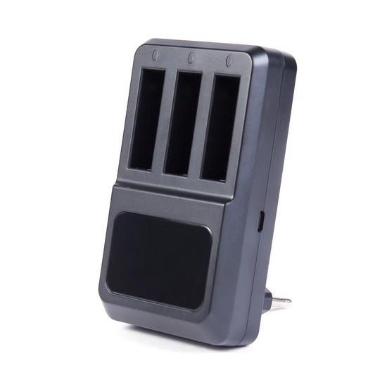 Зарядка для 3 батарей GoPro от USB Deluxe DLGP-404 Hero 4 Чёрный