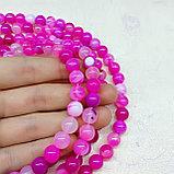 Агат розовый, 8мм, фото 2