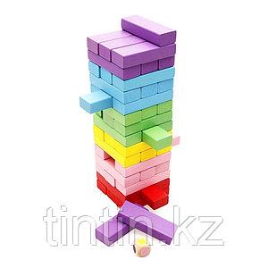 Настольная игра - Дженга Цветная, 54 брусков