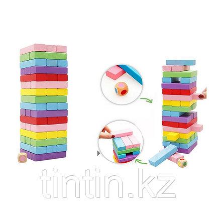 Настольная игра - Дженга Цветная, 54 брусков, фото 2