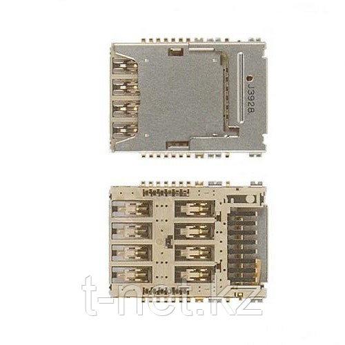 Сим коннектор Samsung i9200