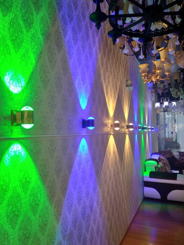 Дизайнерские настенные светильники (светодиодные цветные)