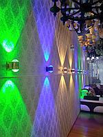 Дизайнерские настенные светильники (светодиодные цветные), фото 1