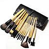 Кисти для макияжа 15 штук в черном чехле