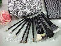 10 кистей для макияжа в стильном чехле MAC