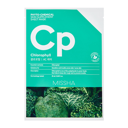 Тканевая маска Phytochemical Skin Supplement Sheet Mask (Chlorophyll/AC Care)