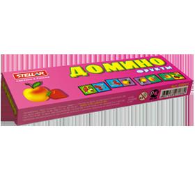 Домино 1 Фрукты (с фруктами на белом фоне)