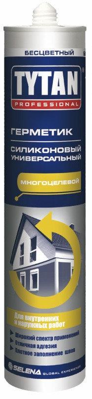 Герметик силиконовый белый универсальный 310 мл TYTAN Professional